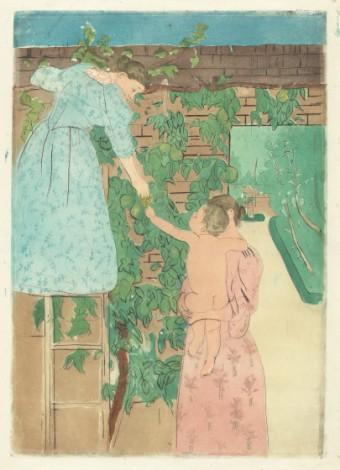 Mary Cassatt dpt, aqau, Nat Gal