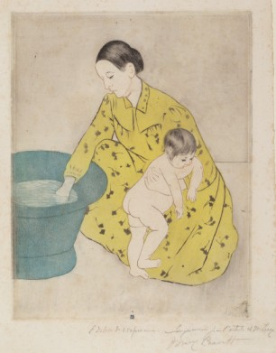 Mary Cassatt wood cut Nat Gal